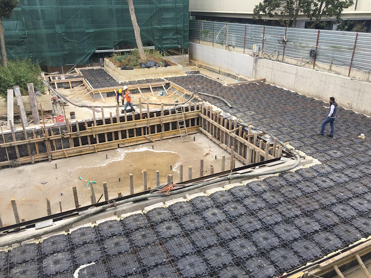 Pool Deck Slab Filling | ABS Disposable Formworks