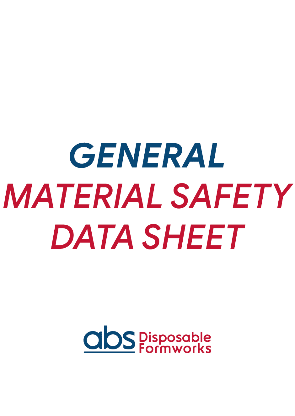 GENERAL_MATERIAL_SAFETY_DATA_SHEET