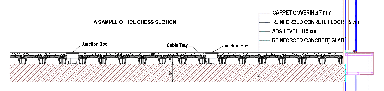 A Sample Office Cross Section with ABS LEVEL